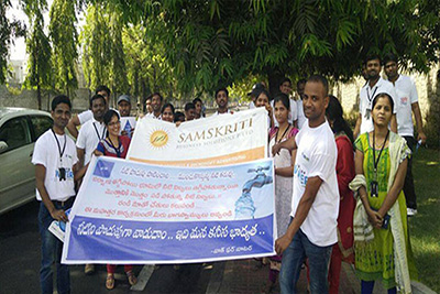 Samskritians Walk for Water