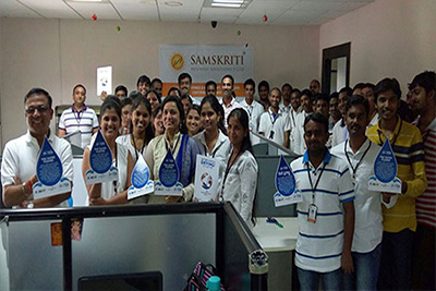 Samskriti Business Solutions has joined Walk for Water Pledge