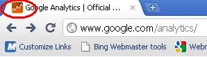 Google Analytics New Favicon