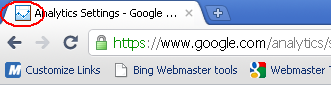 Google Analytics Old Favicon